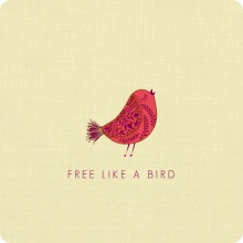 Free Like A Bird Divorce Party Invitation