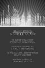 First Single Night on the Town Divorce Party Invitation