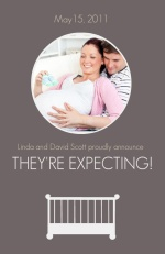White Crib Pregnancy Announcement
