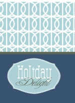Retro Blue Christmas Card