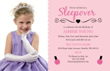 Fancy Pink Slumber Party Invitation