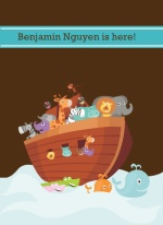 Noah's Ark Boy Baby Announcement