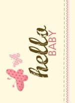 Baby Butterfly Trifold Baby Announcement