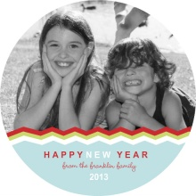 Fun Zig Zag New Years Card