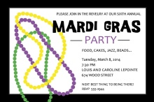 Masquerade Mardi Gras Party