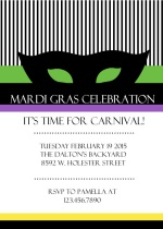 It's Carnival Time Mardi Gras Invite
