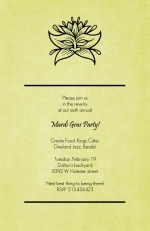 Flower Mask Mardi Gras Invitation