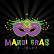 Radiant Mask Mardi Gras Invitation