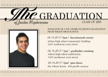 Antique Newspaper Graduation Invitation