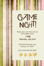 Retro Stripes Game Night Invitation
