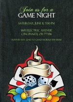 LA Style Game Night Party Invitation