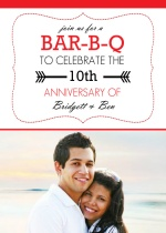 BAR-B-Q Anniversary Party Invite