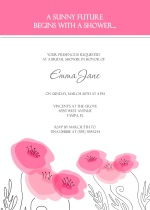 Pink Watercolor Roses Bridal Shower Invite