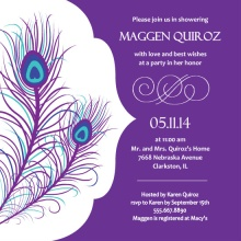 Elegant Peacock Bridal Shower Invite
