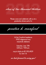 Classic Red  Graduation Party Invitation