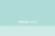 Turquoise Banner  Graduation Thank You Card