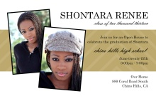 Simple Gold Graduation Invitation
