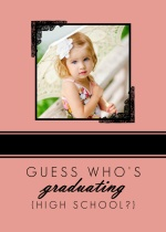 Vintage Baby Photo  Grad Announcement