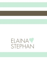 Mint and Brown Soft Stripes  Wedding Invitation