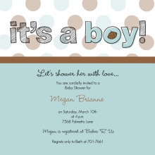 It's A Boy Polka Dot  Boy Baby Shower