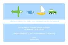 Transportation Boy Baby Announcement