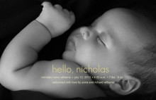 Stunning Photo Birth Announcement