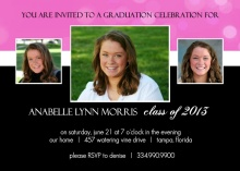 Bright Pink and Graduation Invitation