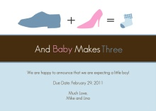 Shoes Silhouettes Pregnancy Announcement