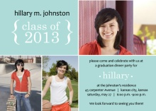 Light Blue Photo Graduation Invitation