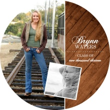 Country Wood Grain Graduation Invitation