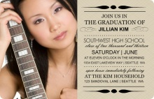 Taupe Photo Graduation Invites