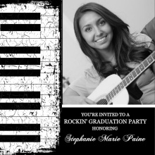 Piano Keys Graduation Invitation