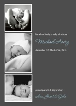 Multi Photo Sibling Baby Announcement