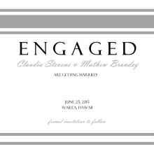 Grey Damask Engagement Announcement