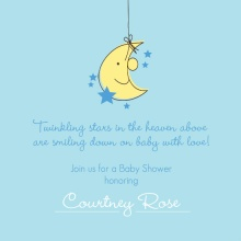 Twinkling Little Stars and Moon  Baby Shower Invite
