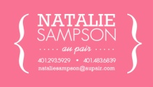 Modern Pink and White Brackets Business Card