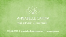 Green Lotus Yoga Business Card