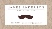 Mustache Man about Town Business Card
