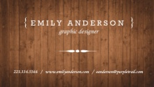 Brown Wood Texture Business Card