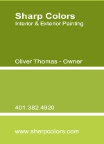 Green Paint Swatch Business Card