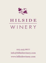 Purple Grape Vine Winery Business Card