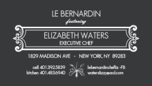 Formal Black and Blue Utensil Chef Business Card