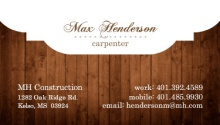 Wood Grain and Frame Business Card