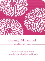 Pink and White Chrysanthemum Business Card