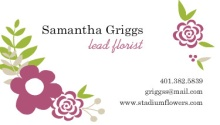 Whimsical Flowers Business Card