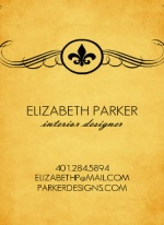 Rustic Fleur De Lis business card