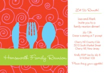Place Setting Family Reunion Invitation
