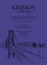 Reunion In The City Family Reunion Invitation