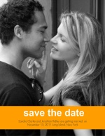 Orange Stripe Save The Date