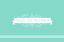 Elegant Blue  Thank You Card